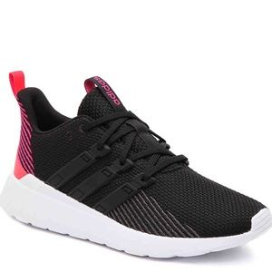 Adidas Questar Flow Running Shoes Black/Pink/White